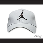 Steve Urkel Jumpman Spoof Logo White Baseball Hat Family Matters