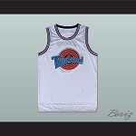 LEBRON JAMES 6 TUNE SQUAD WHITE BASKETBALL JERSEY ANY PLAYER OR NUMBER