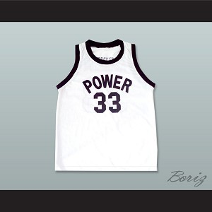 Lew Alcindor Jr 33 Power Memorial Academy White Basketball Jersey