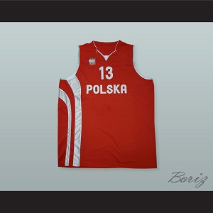 Marcin Gortat 13 Poland Basketball Jersey with Patch