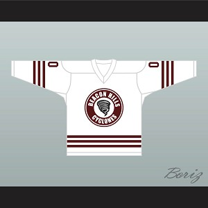 Derek Hale 00 Beacon Hills Cyclones Hockey Jersey Teen Wolf TV Series White