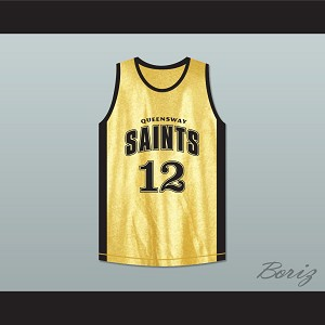 Stephen Curry 12 Queensway Christian College Saints Basketball Jersey