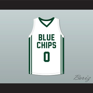 Lebron James Jr 0 Blue Chips White Basketball Jersey 2