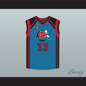Tammi Reiss Vicki Sanchez 13 Charlotte Banshees Away Basketball Jersey with WUBA Patch Juwanna Mann