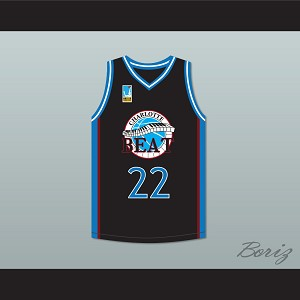 Rasheed Wallace Whitley 22 Charlotte Beat Home Basketball Jersey with UBA Patch Juwanna Mann