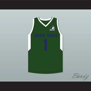LaMelo Ball 1 Chino Hills Huskies Green Basketball Jersey with Patch
