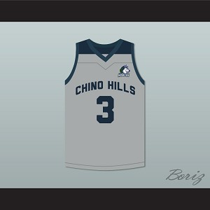 LiAngelo Ball 3 Chino Hills Huskies Gray Basketball Jersey with Patch
