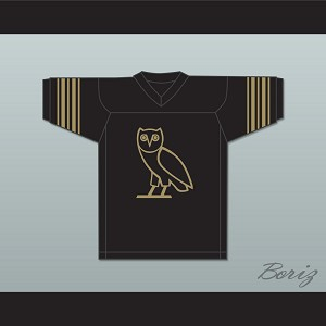 Drake 9 OVO Black Football Jersey