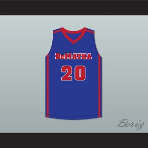 Markelle Fultz 20 DeMatha Catholic High School Stags Blue Basketball Jersey