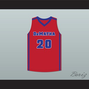 Markelle Fultz 20 DeMatha Catholic High School Stags Red Basketball Jersey