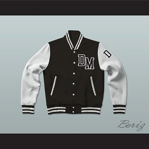 Dirty Money Black Varsity Letterman Jacket-Style Sweatshirt