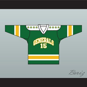 1960's Style EHL Greensboro Generals Green Hockey Jersey