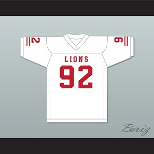 Marcel Andry 92 EMCC Lions White Football Jersey