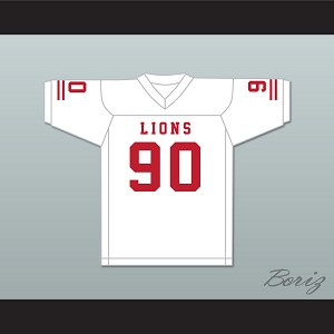Ronald Ollie 90 EMCC Lions White Football Jersey