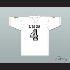 Wyatt Roberts 4 EMCC Lions White Alternate Football Jersey