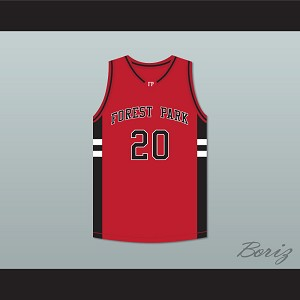Jimmy McKinney Jacob Whitmore 20 Forest Park Highlanders Basketball Jersey Streetballers