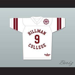 Dwayne Wayne 9 Hillman College White Football Jersey with Theater Patch A Different World