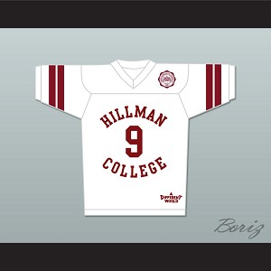 Dwayne Wayne 9 Hillman College White Football Jersey with Eagle Patch A Different World