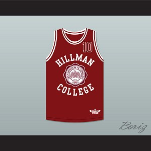 Ronald 'Ron' Johnson 10 Hillman College Maroon Basketball Jersey Deluxe A Different World