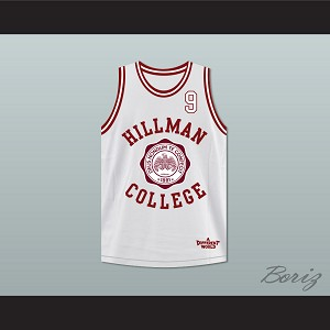 Dwayne Wayne 9 Hillman College White Basketball Jersey Deluxe A Different World