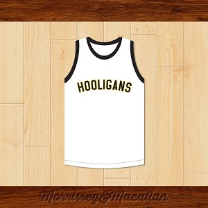 Hooligans 24K White Basketball Jersey by Morrissey&Macallan