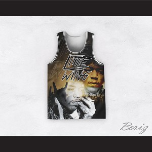 Jimi Hendrix 11 Little Wing Black and Gold Basketball Jersey