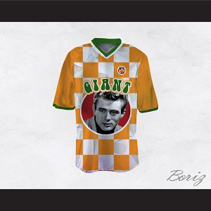 James Dean 08 Giant Orange Checkered Football Jersey