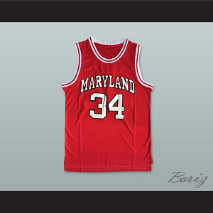 Len Bias 34 Maryland Red Basketball Jersey