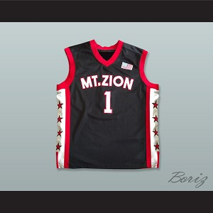 Tracy McGrady 1 Mount Zion Christian Academy Black Basketball Jersey
