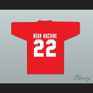 Burt Reynolds 22 Paul Crewe Mean Machine Convicts Red Football Jersey