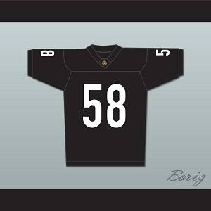 Lawrence Taylor Luther 'Shark' Lavay 58 Miami Sharks Football Jersey Any Given Sunday Includes AFFA Patch