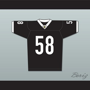 Luther 'Shark' Lavay 58 Miami Sharks White Trim Football Jersey Any Given Sunday Includes AFFA Patch