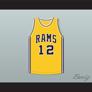 Joe Montana 12 Ringgold High School Rams Yellow Basketball Jersey