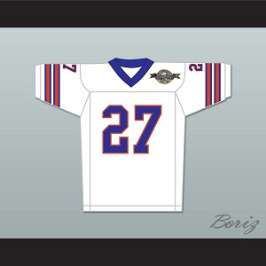 Casey Bugge 27 Mud Dogs Away Football Jersey with Bourbon Bowl Patch