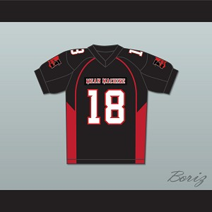 Adam Sandler 18 Paul Crewe Mean Machine Convicts Football Jersey Includes Patches