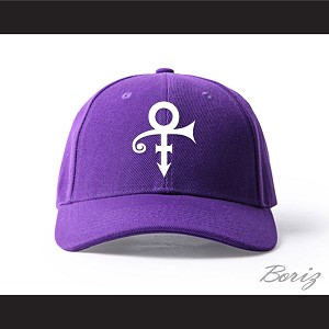 Prince Symbol Purple/White Baseball Hat