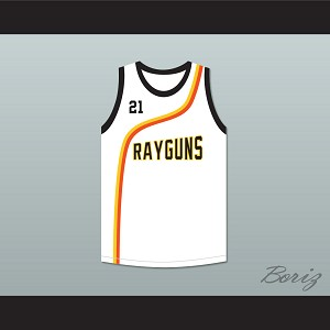 Tim Duncan 21 Roswell Rayguns White Basketball Jersey