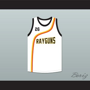 Bootsy 'Bootzilla' Collins 26 Roswell Rayguns White Basketball Jersey