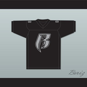 Drag-On Rough Ryders 88 Black Football Jersey