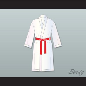 Rocky Balboa White Satin Full Boxing Robe