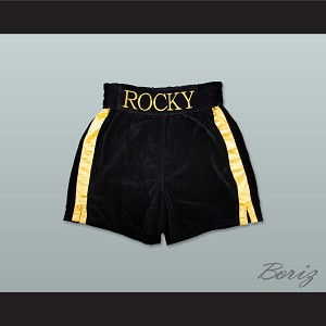 Rocky Balboa Black Boxing Shorts
