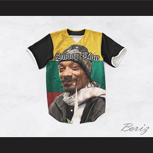 Snoop Lion 33 Rasta Style Baseball Jersey