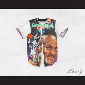 Tune Squad 25 Space Jam Dye Sublimation Graphics Baseball Jersey