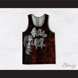 Dr Dre 02 Still Dre Cannabis Red Basketball Jersey