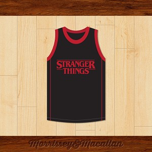 Dustin Henderson 12 Stranger Things Basketball Jersey by Morrissey&Macallan