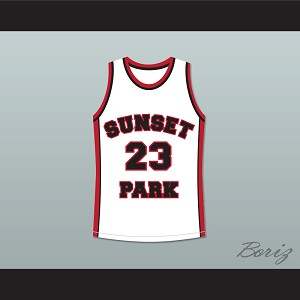 De'aundre Bonds Busy-Bee 23 Sunset Park White Basketball Jersey