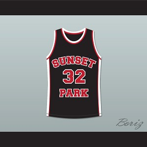 Terrence Howard Spaceman 32 Sunset Park Black Basketball Jersey