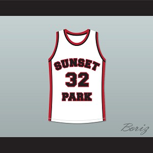 Terrence Howard Spaceman 32 Sunset Park White Basketball Jersey