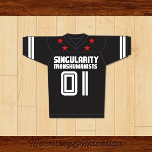 Ray Kurzweil 01 Singularity Transhumanists Football Jersey by Morrissey&Macallan