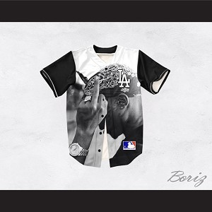 Tupac Shakur 13 Los Angeles Black Sleeve Baseball Jersey